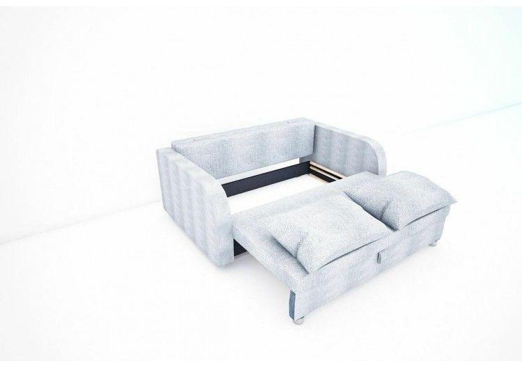Диван Раевская мебельная фабрика Малыш с подлокотниками рогожка серая+квадраты 00611 - фото 2