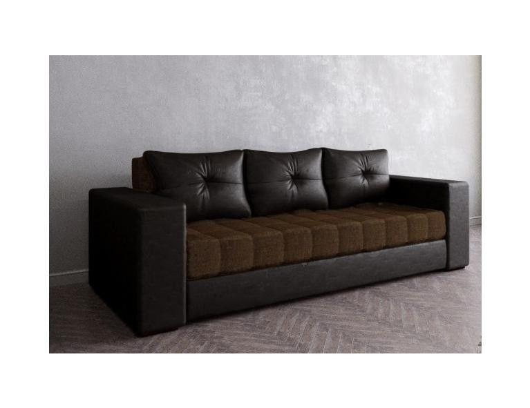 Диван Craftmebel Константин коричневая/черная экокожа - фото 1