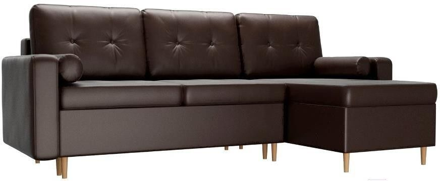 Диван Mebelico Белфаст 492 правый 59062 экокожа коричневый - фото 1