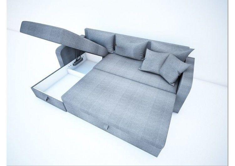 Диван Раевская мебельная фабрика Угловой в ткани Флок серый 00401 - фото 2