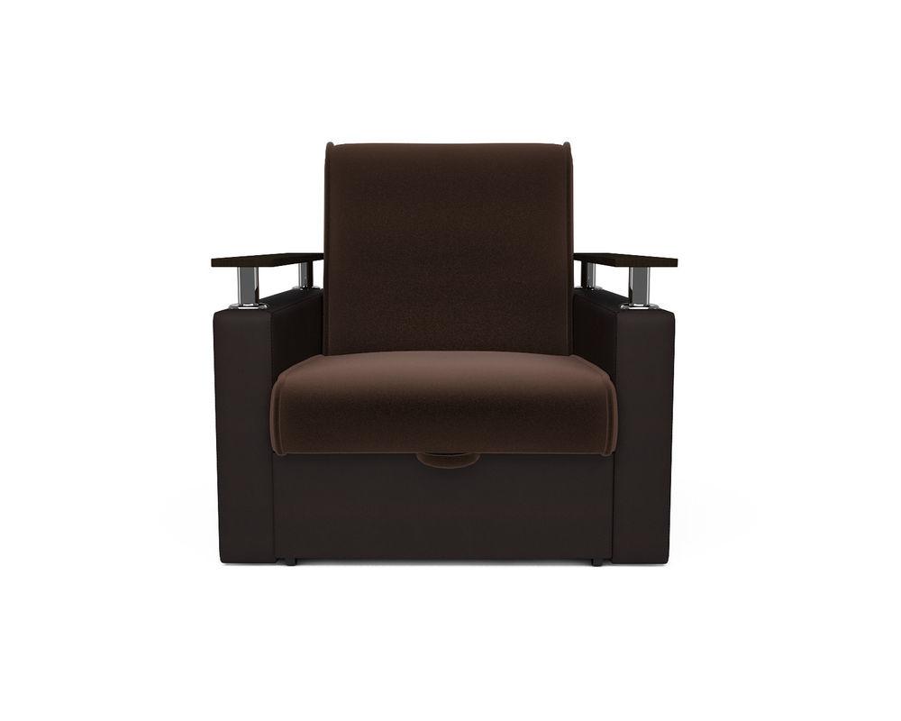 Кресло Мебель-АРС Шарм - шоколад (микровелюр + экокожа) - фото 2
