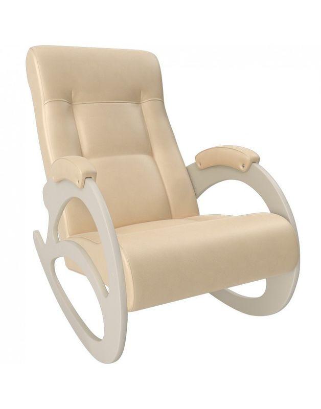 Кресло Impex Модель 4 б/л сливочный экокожа (dundi 109) - фото 2