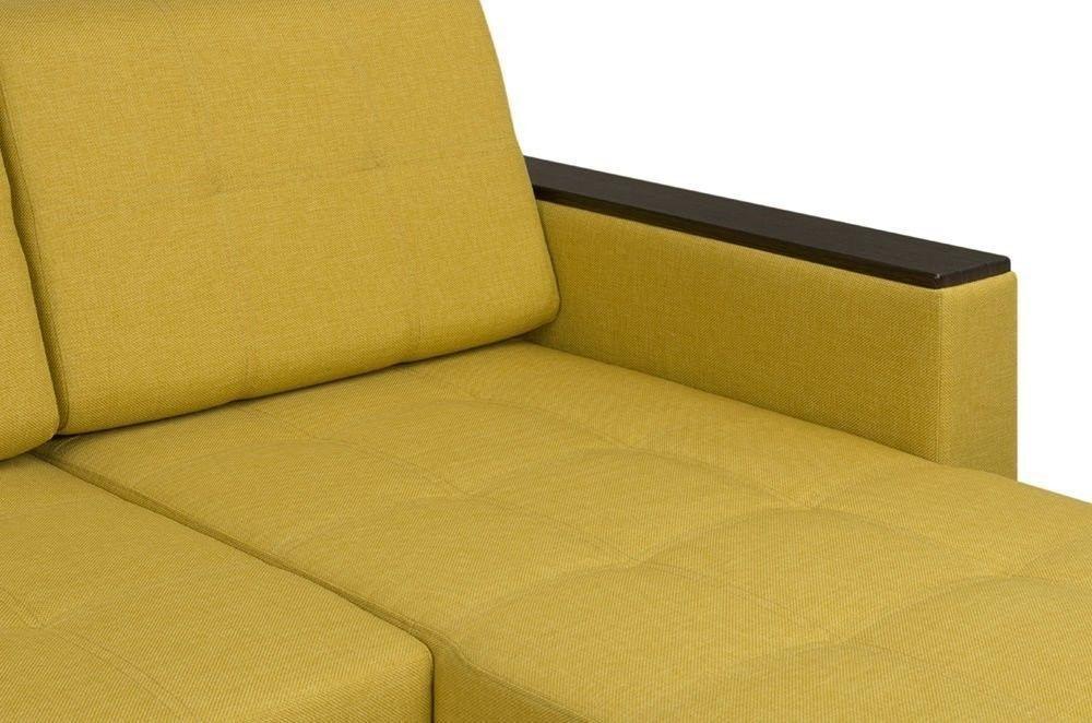 Диван Woodcraft Угловой Атланта Textile Yellow - фото 10