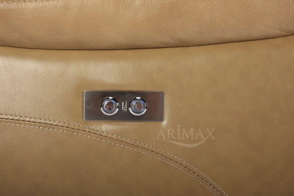 Диван Arimax Брюс (Кэмел) правый с электрическим реклайнером - фото 9