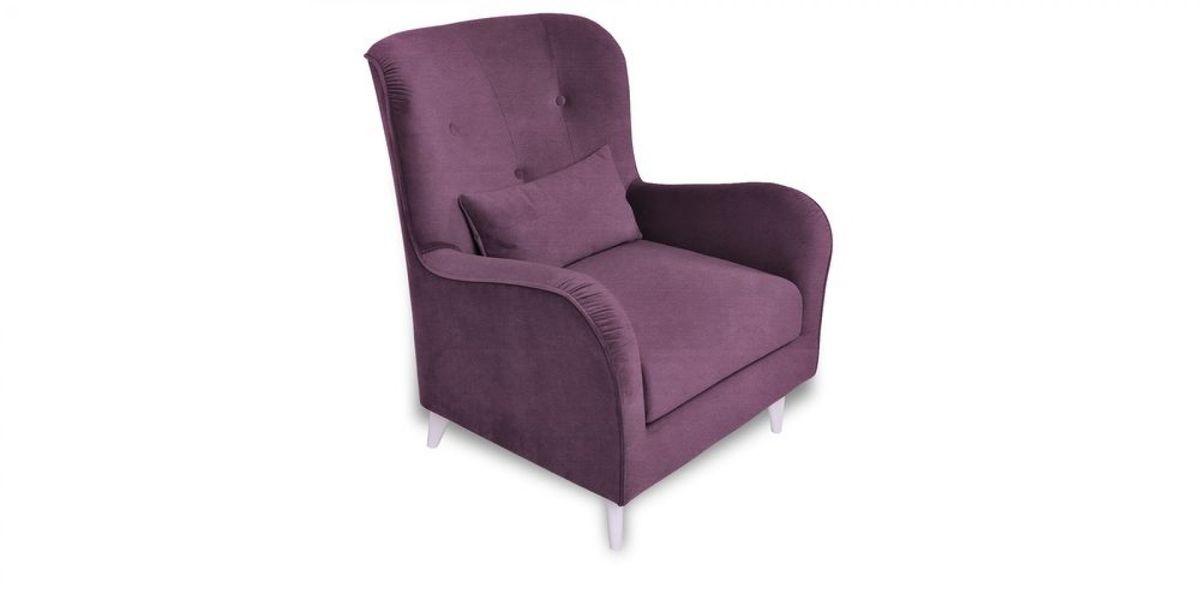 Кресло WOWIN Амели (Темно-фиолетовый велюр) - фото 1