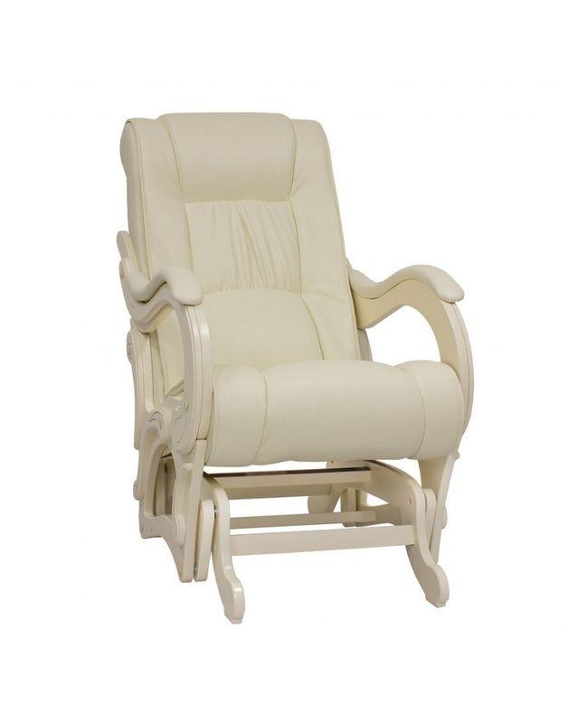 Кресло Impex Кресло-гляйдер, Модель 78 экокожа сливочный (dundi 112) - фото 1