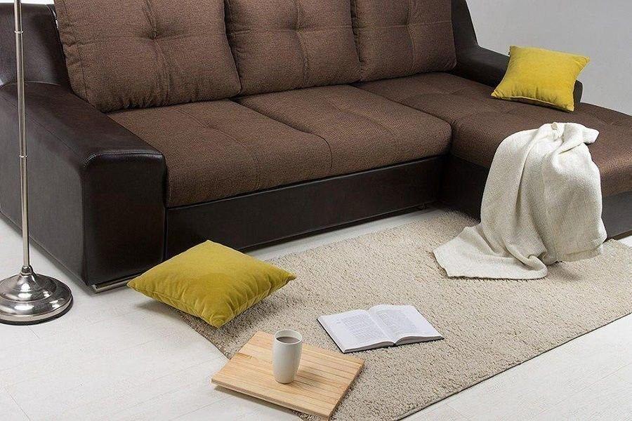 Диван Woodcraft Угловой Мидгард Textile Brown (уцененный) - фото 3