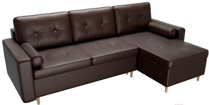 Диван Mebelico Белфаст 492 правый 59062 экокожа коричневый - фото 3