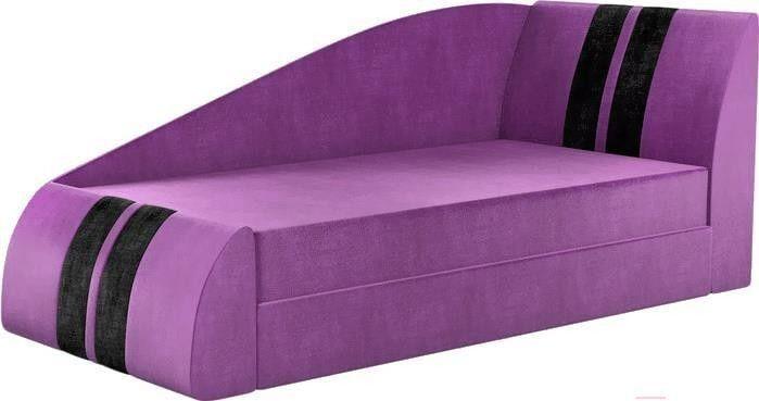 Диван Mebelico Мустанг 11 59088 микровельвет фиолетовый - фото 1