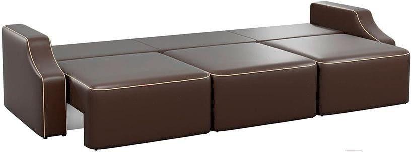 Диван Mebelico Триумф Long Slide 59 экокожа коричневый [59397] - фото 4