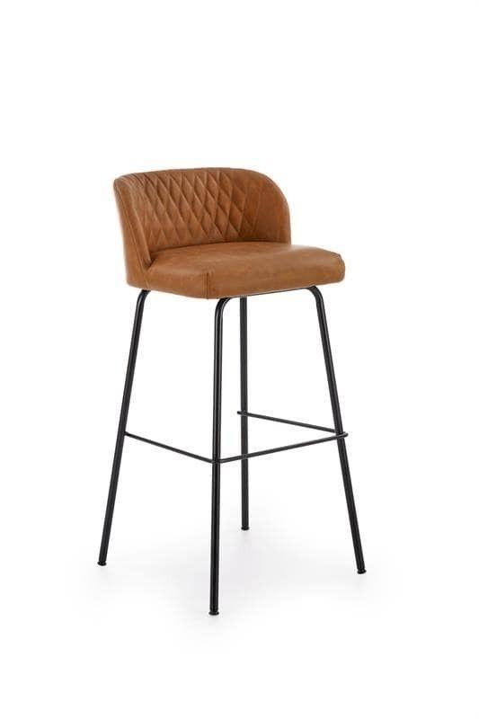 Барный стул Halmar H-92 (светло-коричневый/черный) - фото 1