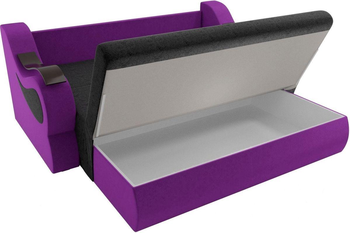 Диван Mebelico Меркурий 222 100,вельвет черный/фиолетовый - фото 6