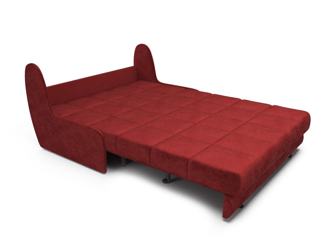 Диван Мебель-АРС Аккордеон Барон №2 (бархат красный  STAR VELVET 3 DARK RED) - фото 6