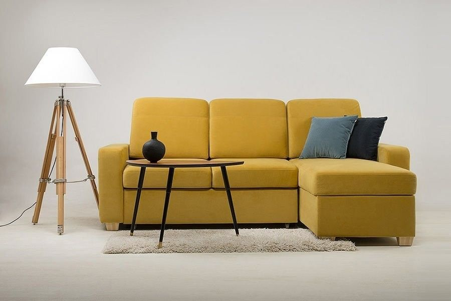 Диван Woodcraft Модульный Гувер-2 Velvet Yellow (уцененный) - фото 2
