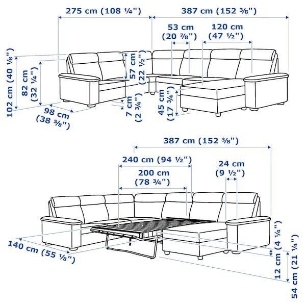 Диван IKEA Лидгульт 692.776.23 - фото 8