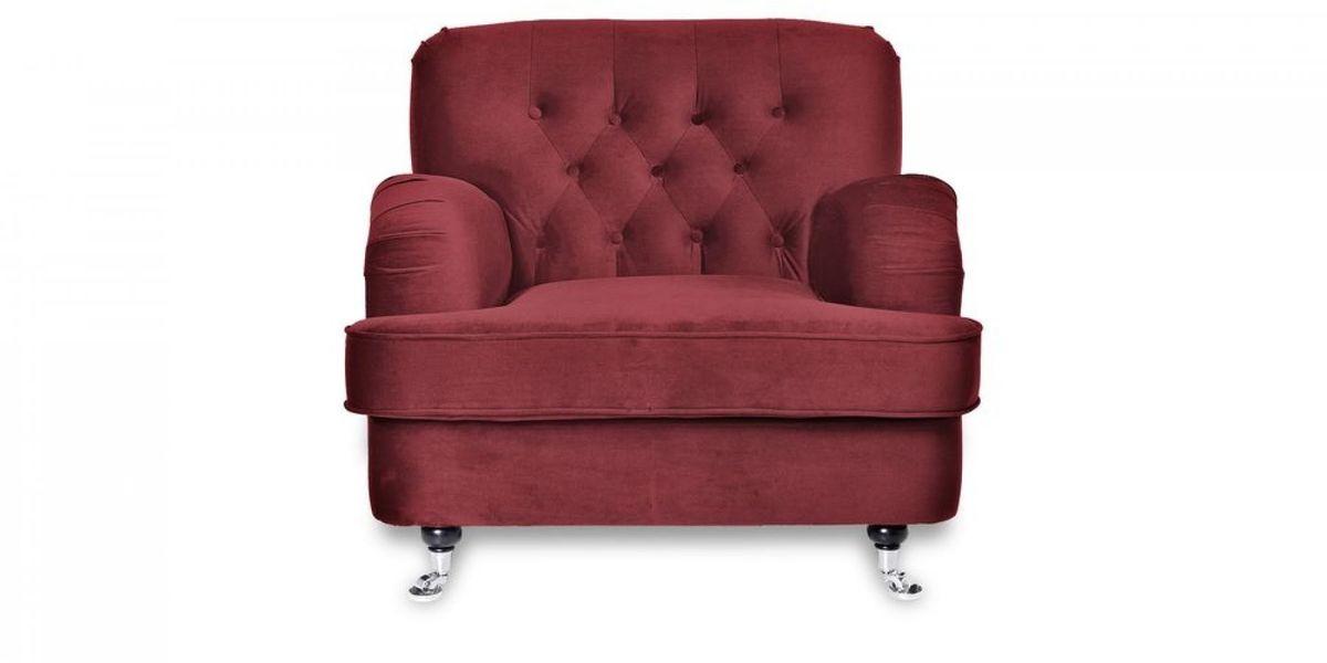 Кресло WOWIN Фулхаус (Бордовый велюр) - фото 2