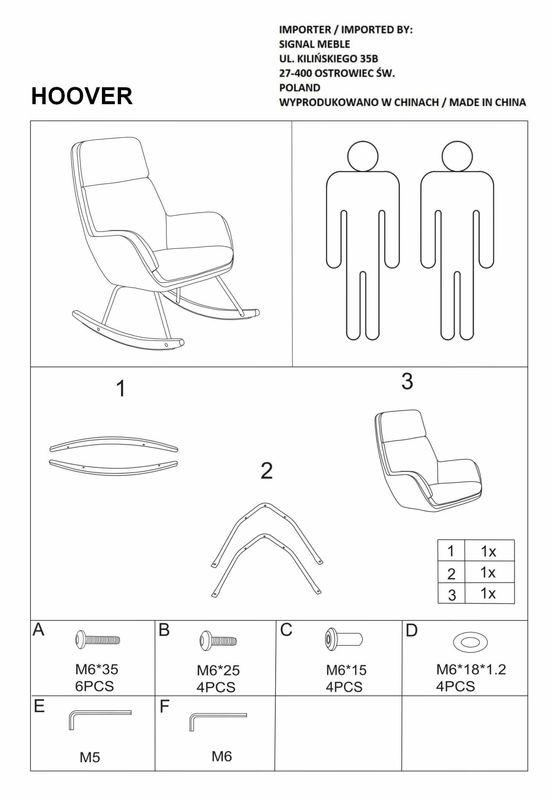 Кресло Signal HOOVER VELVET (серый) - фото 3