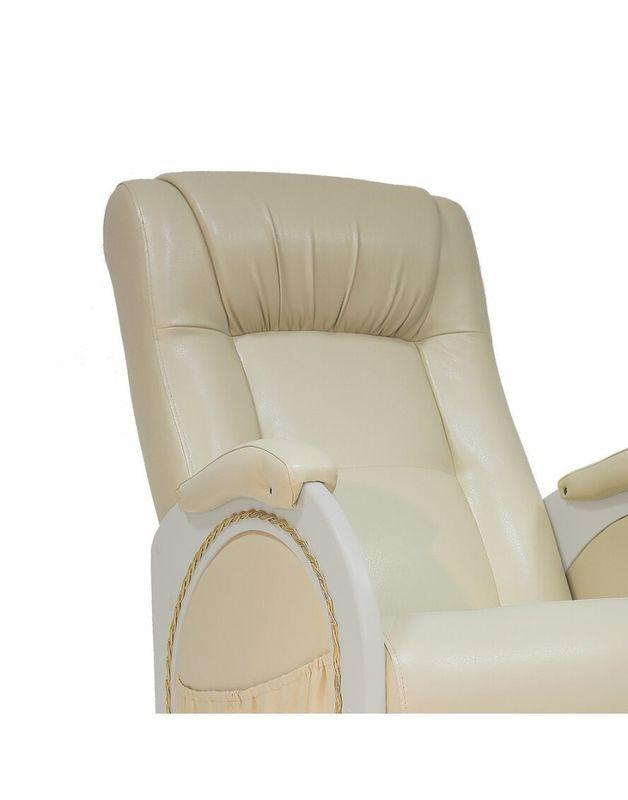 Кресло Impex Кресло-гляйдер Модель 48 экокожа сливочный (oregon 106) - фото 4