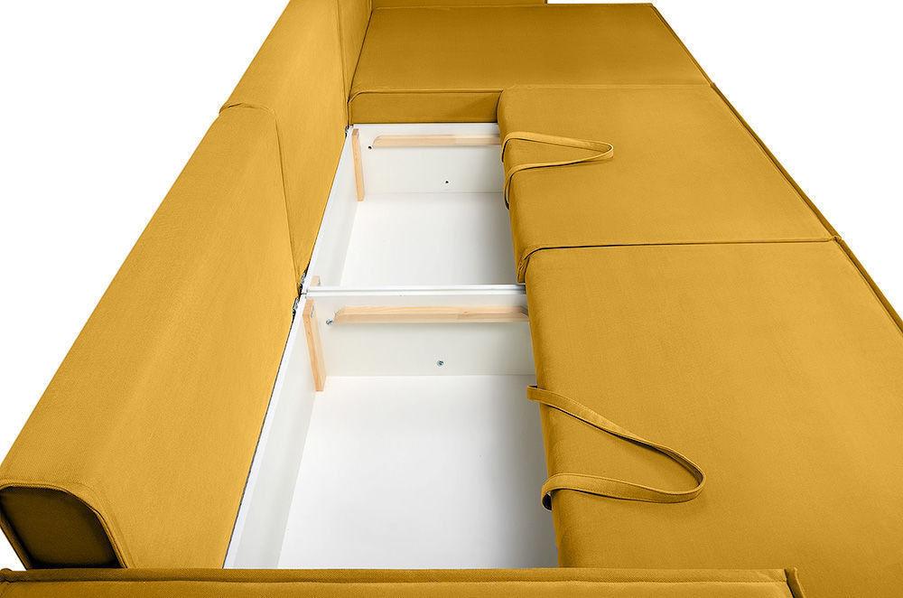 Диван Woodcraft Лофт Velvet Угловой Yellow - фото 7