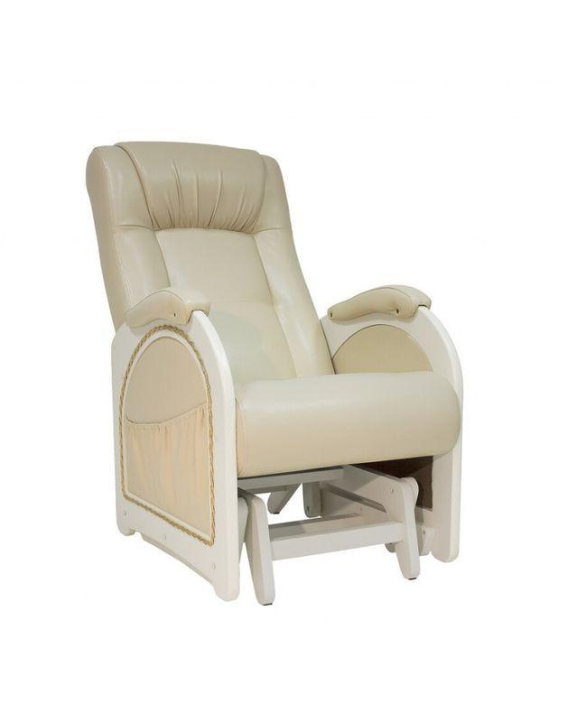Кресло Impex Кресло-гляйдер Модель 48 экокожа сливочный (polaris beige) - фото 1
