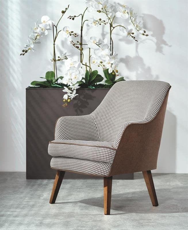 Кресло Halmar TELAVIV (черно-белый/коричневый/орех) V-PL-TELAVIV-FOT - фото 1