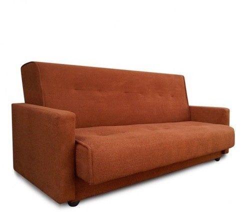 Диван Луховицкая мебельная фабрика Милан (Астра светло-коричневый) пружинный 120x190 - фото 1