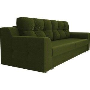 Диван ЛигаДиванов Сансара микровельвет зеленый - фото 4