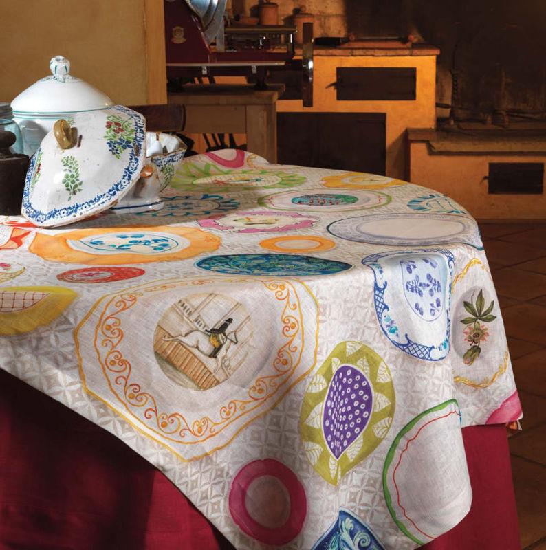 Tessitura Toscana Скатерть Limoges 170x170 - фото 1