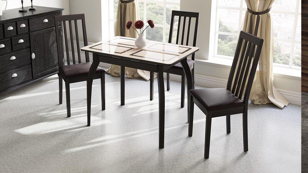 Обеденный стол ТриЯ Рим раздвижной на деревянных ножках - фото 1