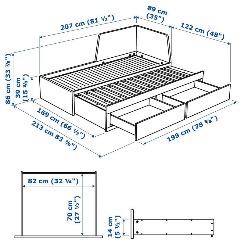 Диван IKEA Флекке [592.111.90] - фото 9