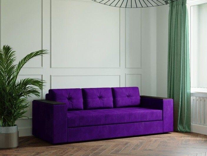 Диван Настоящая мебель Ванкувер Лайт с декором (модель: 00-000034507) фиолетовый - фото 1