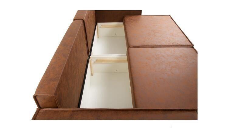 Диван Craftmebel Лофт (экокожа коричневая) - фото 6