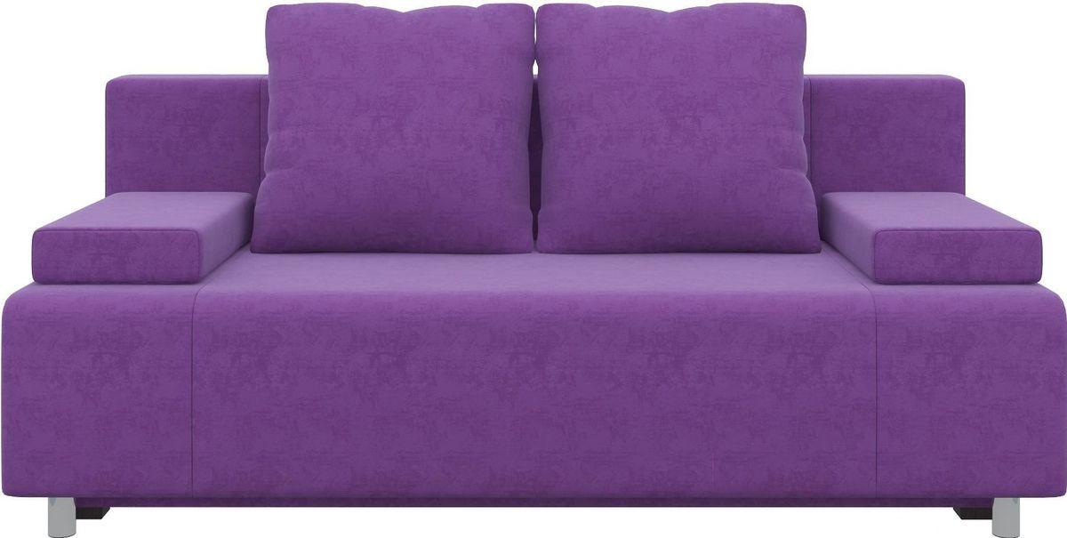 Диван Mebelico Чарли 63 микровельвет фиолетовый - фото 1