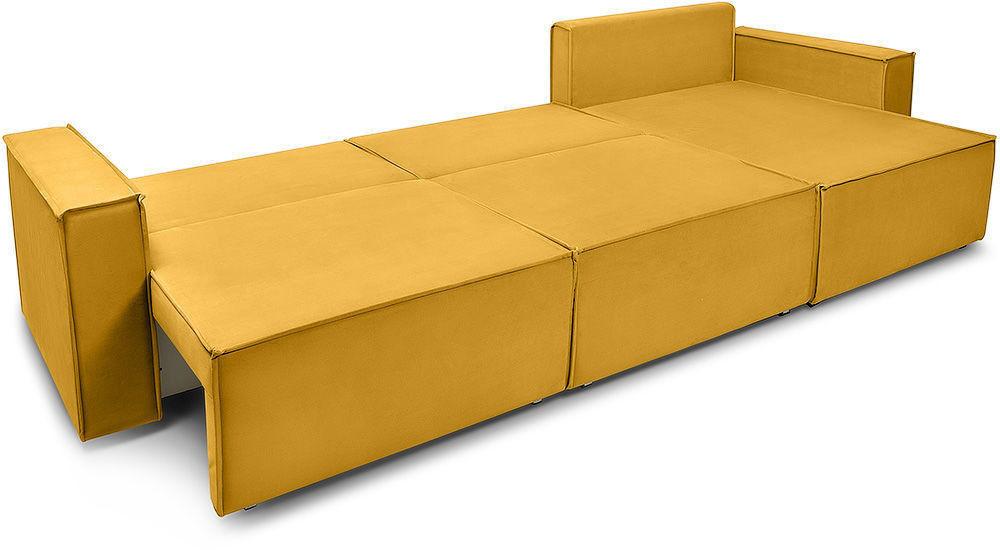 Диван Woodcraft Лофт Velvet Угловой Yellow - фото 5