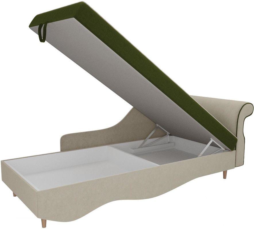 Диван Mebelico Лорд правый 101222 микровельвет зеленый/бежевый - фото 5