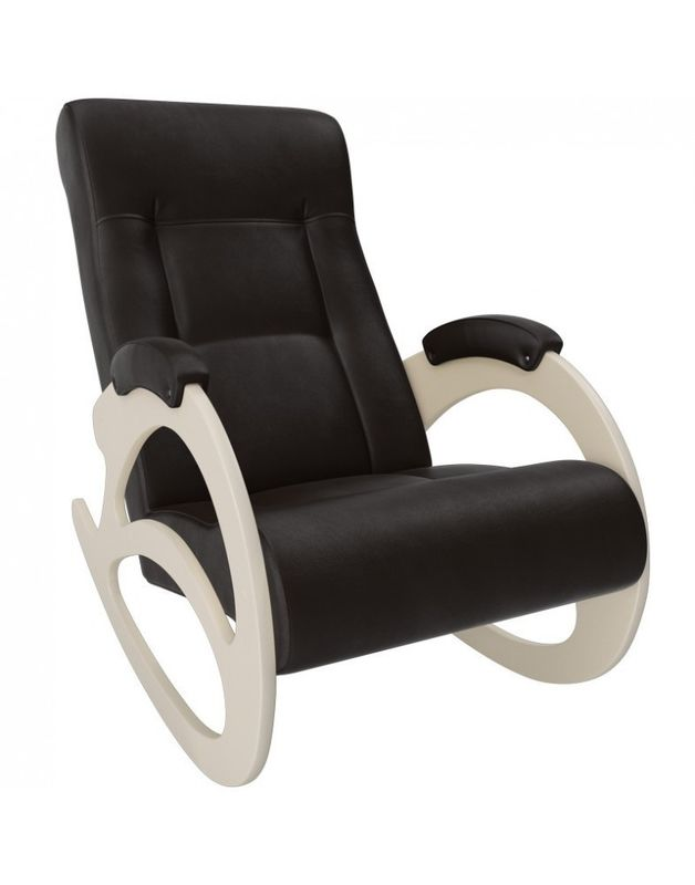 Кресло Impex Модель 4 б/л сливочный экокожа (dundi 109) - фото 4