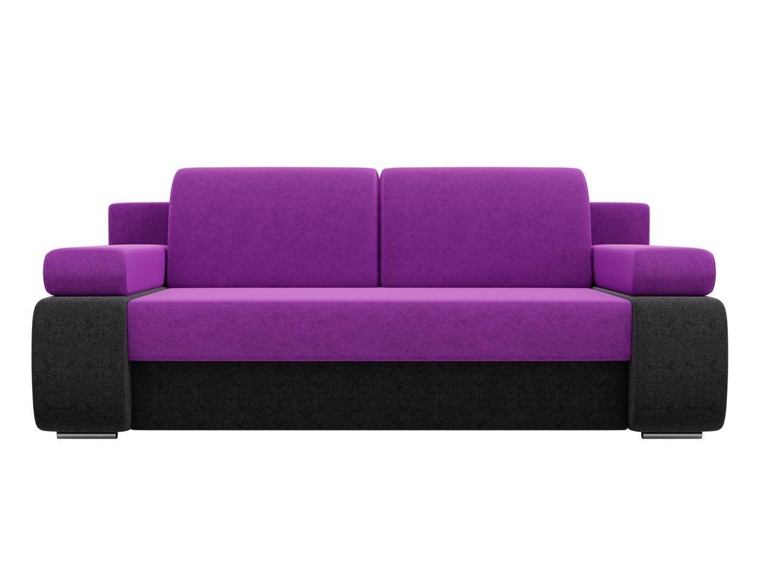 Диван ЛигаДиванов Денвер вельвет фиолетовый/черный - фото 3