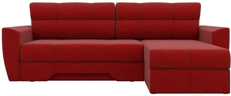 Диван Mebelico Амстердам 77 угловой правый 58495 микровельвет красный - фото 4