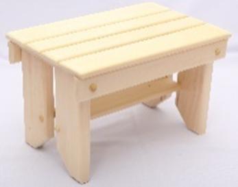 Мебель для бани и сауны Липа Лавочка 600x300x300 - фото 1