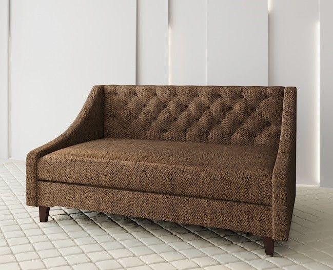 Диван Луховицкая мебельная фабрика Мальта 2 (корфу коричневая) 200x80 - фото 1