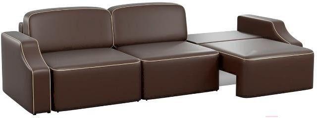 Диван Mebelico Триумф Long Slide 59 экокожа коричневый [59397] - фото 2