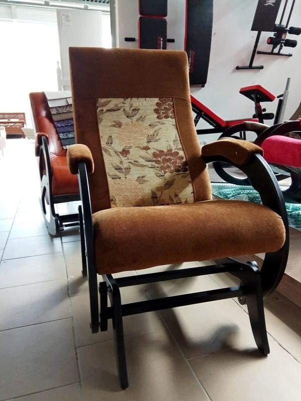 Кресло Бастион 1М глайдер (pearl 108 +цветы) - фото 5