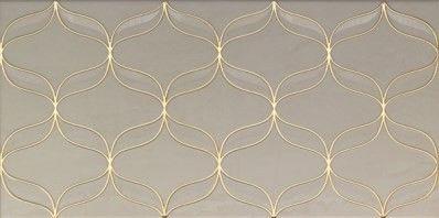 Плитка Vitra Ethereal Decor Gold - Light Beige Glossy 30х60 (K082255) - фото 1