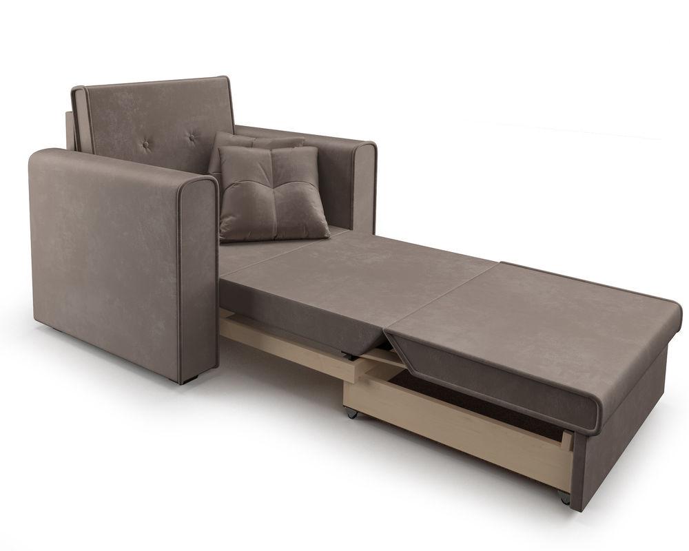 Кресло Мебель-АРС Санта (бархат серо-шоколадный) - фото 8