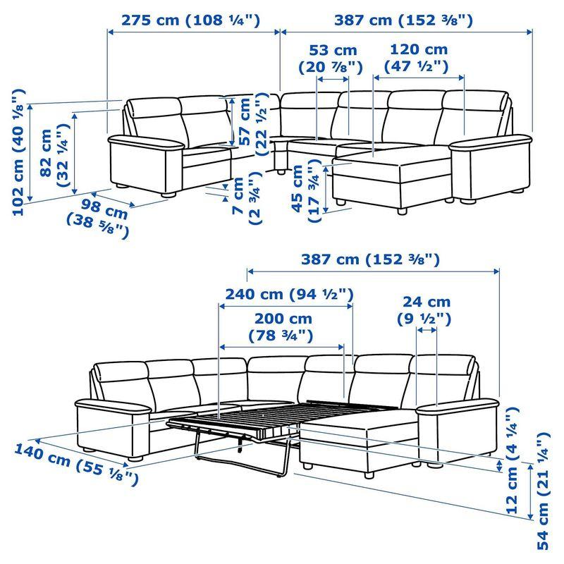 Диван IKEA Лидгульт золотисто-коричневый [692.776.23] - фото 8
