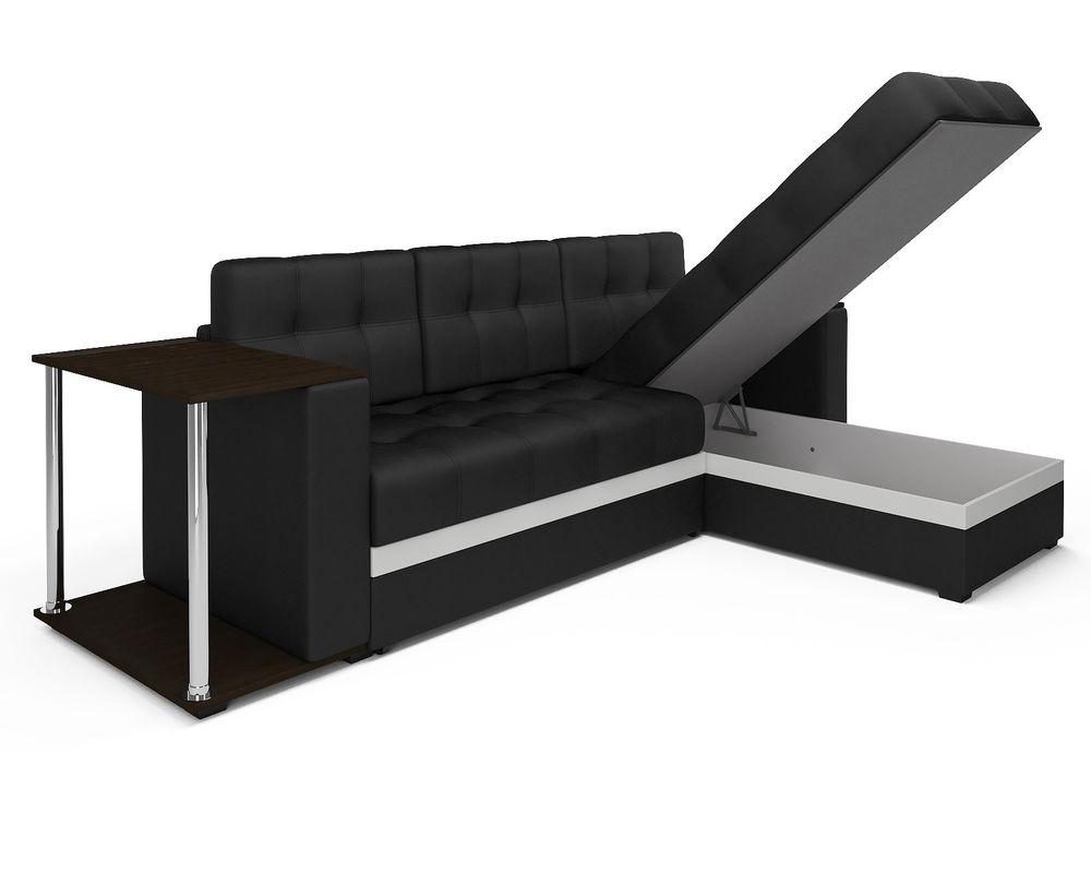 Диван Мебель-АРС Атланта (экокожа черная с полоской) - фото 4
