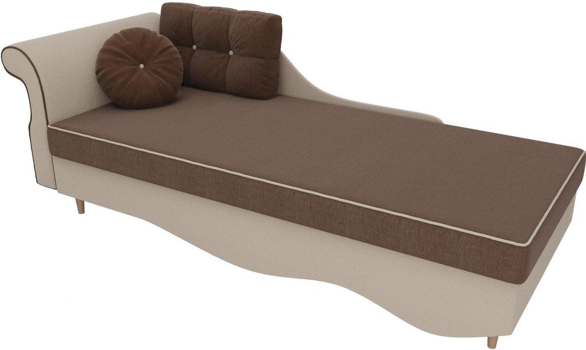 Диван Mebelico Лорд левый 101230 рогожка коричневый/бежевый - фото 2