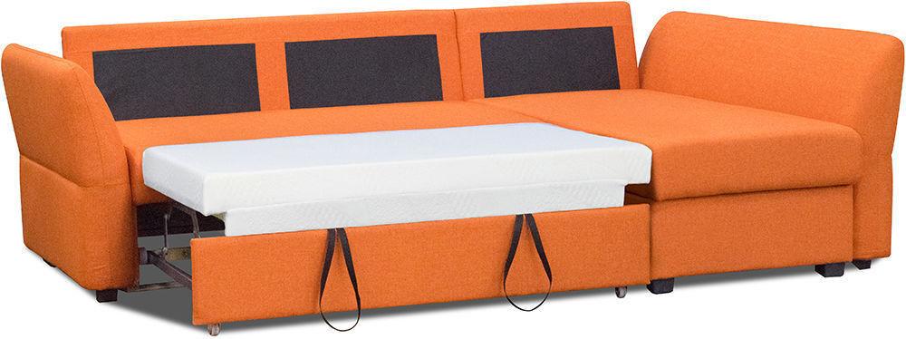 Диван Woodcraft Угловой Гесен Textile Orange - фото 3