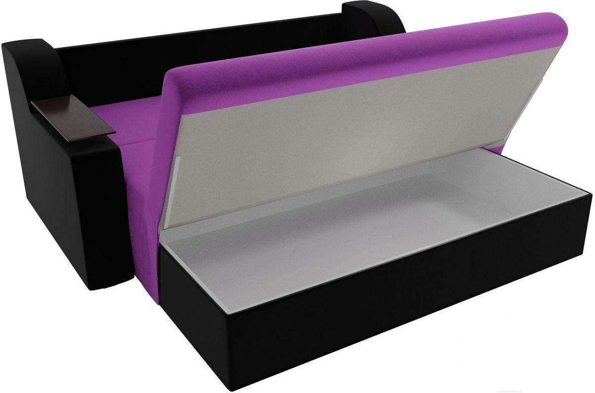 Диван Mebelico Сенатор 100714 120, микровельвет фиолетовый/черный - фото 6