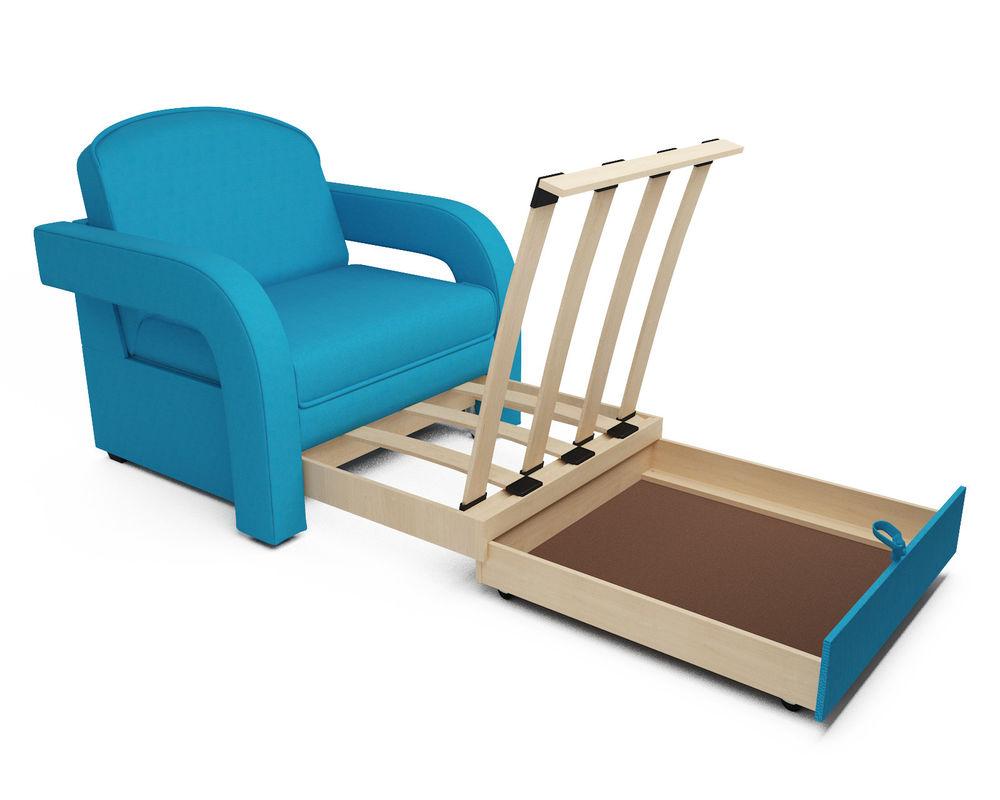 Кресло Мебель-АРС Кармен-2 синий (рогожка) - фото 6